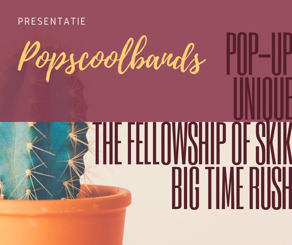 Presentatie Popscool bands