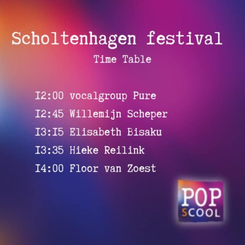 Time table Scholtenhagen Festival